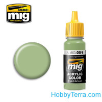 Acrylic color. Medium light green