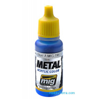 Metal acrylic color. Warhead metallic blue