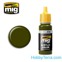 Acrylic color. RLM 82 Camo green