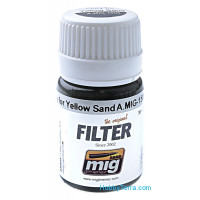 Filter. Grey for yellow sand