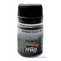 Pigment. Airfield dust