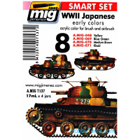 Smart Set. WWII Japanese AFV early colors