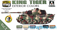 Special set for Takom. King Tiger, exterior color, set 2