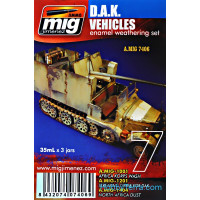 Weathering Set. D.A.K. vehicles