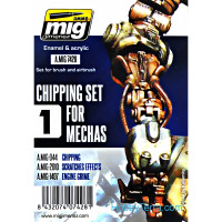 Weathering Set. Chipping set for Mechas 1