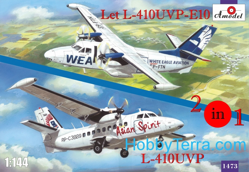 Amodel  1473 Let L-410UVP-E10 & L-410UVP aircraft (2 kits in box)