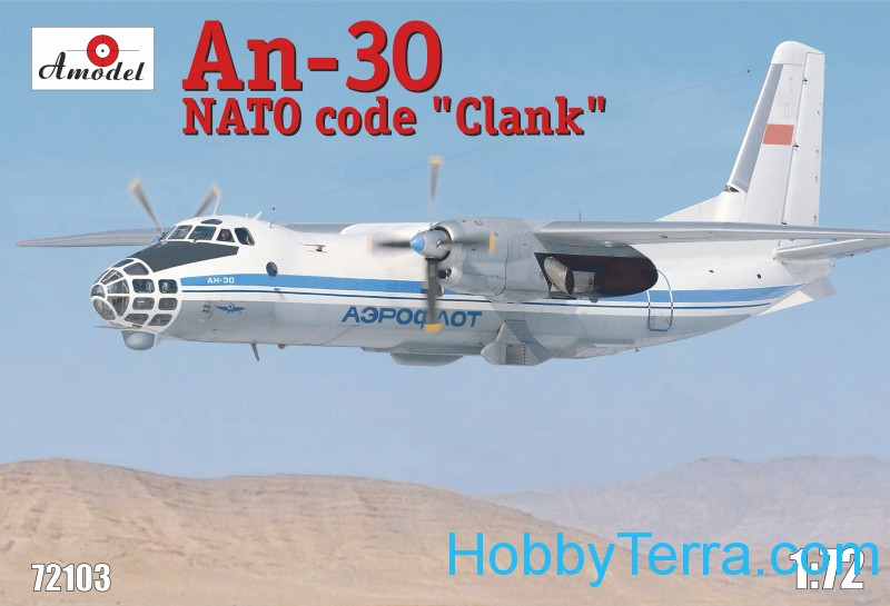 Amodel  72103 An-30 'Clank' Soviet aerial cartography aircraft