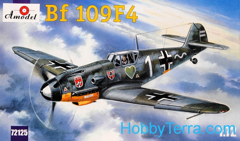 Amodel  72125 Messerschmitt Bf-109F-4 WWII German fighter