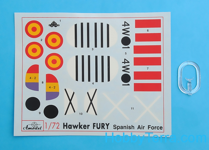 Hawker fury spanish af fighter model kit in 1 72 scale for Amo manufacturing spain