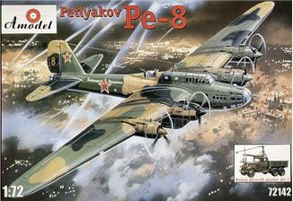 Pe-8 WWII Soviet bomber & AS-2 aircraft starter
