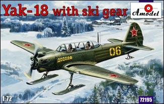 Yak-18 with ski gear