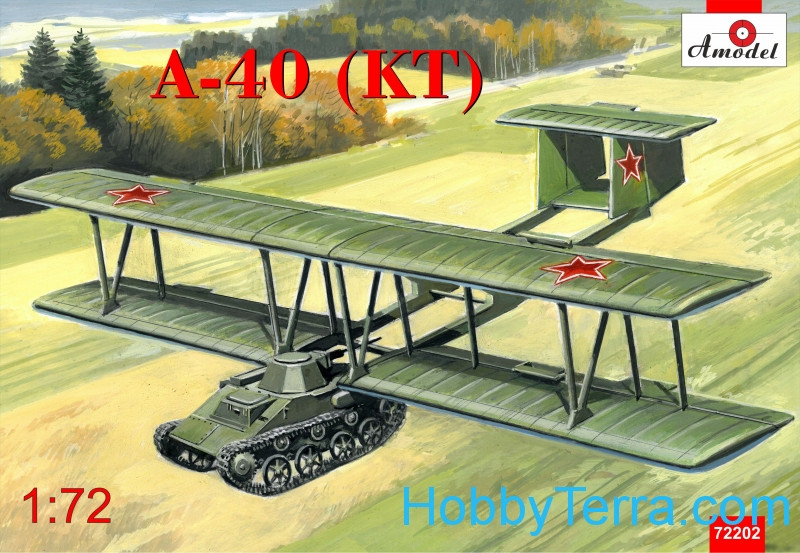 Antonov A-40 (KT) prototype flying tank using T-60