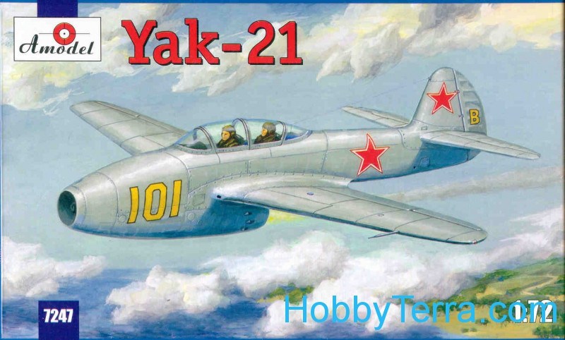 Amodel  7247 Yak-21 Soviet jet fighter