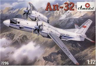 Amodel  7296 An-32 Soviet transport aircraft