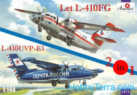 Let L-410FG & L-410UVP-E3 aircraft (2 kits in box)