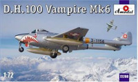 D.H.100 Vampire Mk6 RAF jet fighter