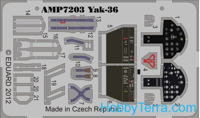 Photo-etched set for ART Model Yak-36