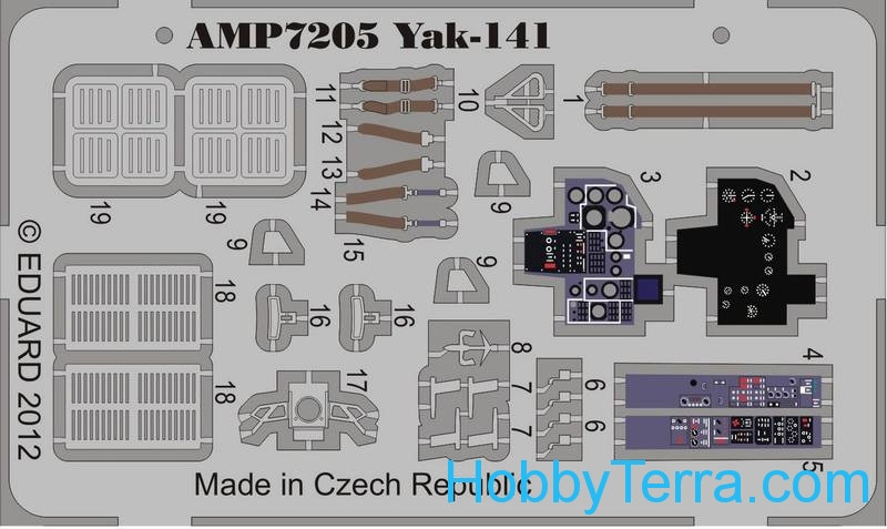 Photo-etched set for ART Model Yak-141