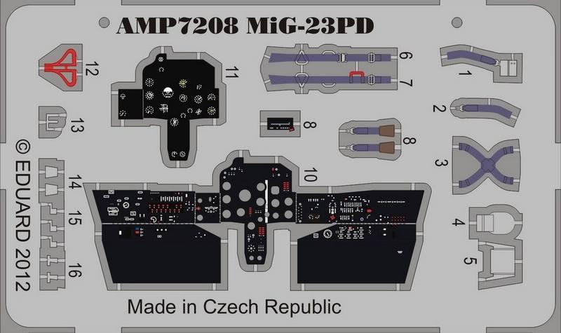 AMP  7208 Photo-etched set for ART Model MiG-23PD