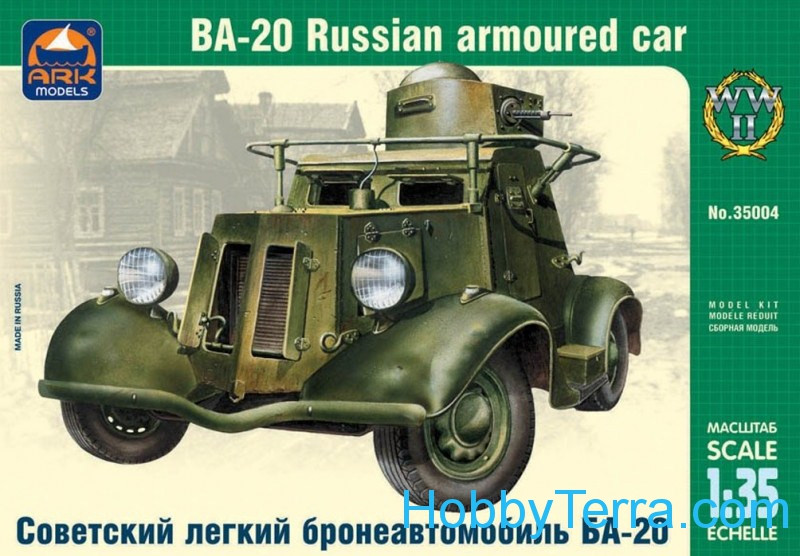 Ark models  35004 Ba-20 Russian armored car