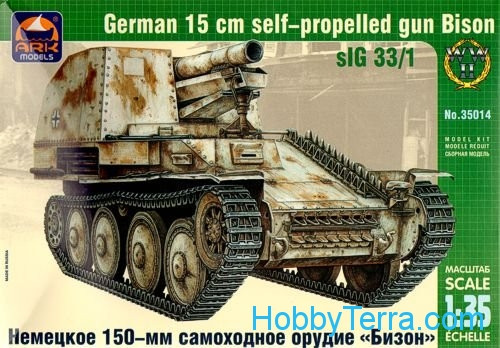 Ark models  35014 Bison German 150mm self-propelled gun