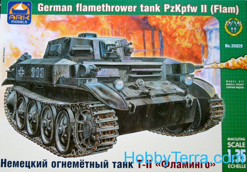 Pz.Kpfw T-II German flame-thrower tank