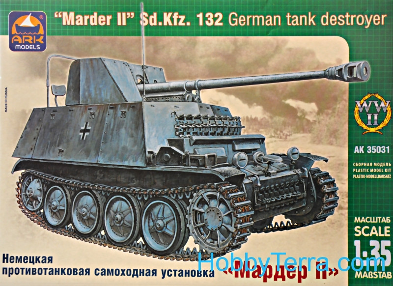Ark models  35031 Marder II German self-propelled gun
