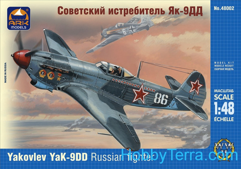 Ark models  48002 Yak-9DD WWII Russian fighter