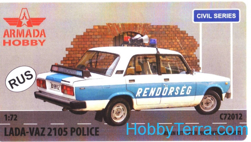LADA-VAZ 2105 Police car (resin kit & PE set)
