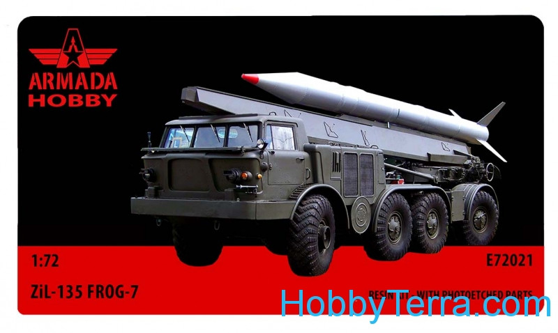 ZIL-135 FROG-7 (LUNA) 8 wheeled missile launcher (resin kit & PE set)