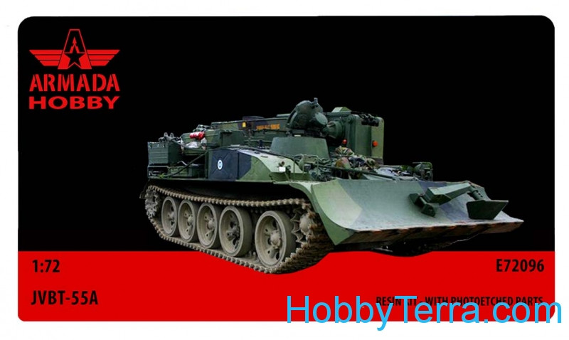 JVBT-55A Soviet heavy armored recovery vehicle (resin kit & PE set)