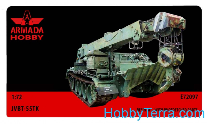 JVBT-55TK Soviet heavy armored recovery vehicle (resin kit & PE set)