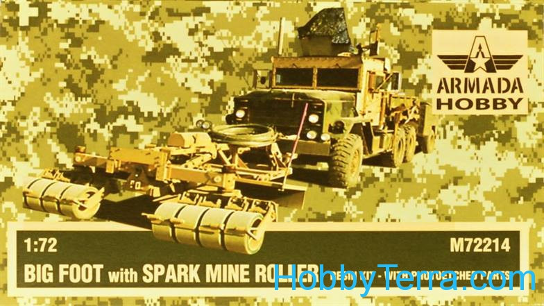 Big Foot with Spark mine roller (resin kit + pe)