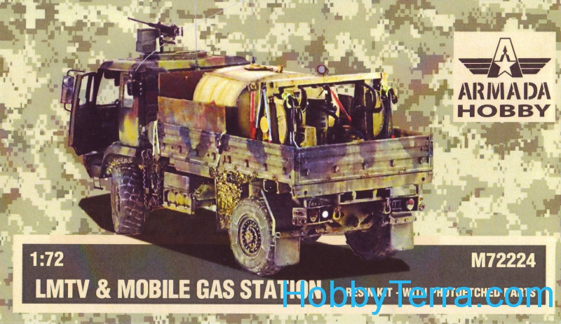 LMTV & Mobile gas station (resin kit & PE set)