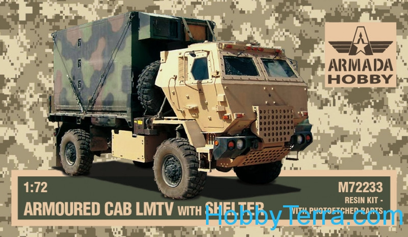 M1078 LMTV armored cab w/shelter (resin kit & PE set)