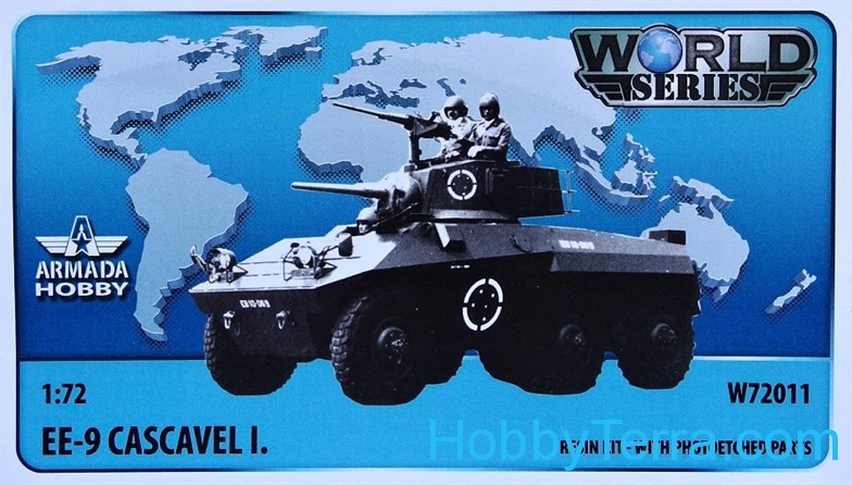 Brazilian 6x6 armored car EE-9 Cascavel I. (resin kit & PE set)