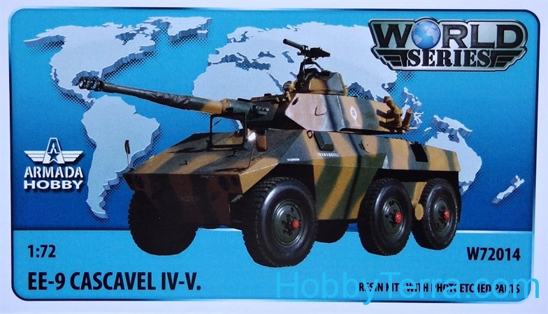 Brazilian 6x6 armored car EE-9 Cascavel IV. (resin kit & PE set)