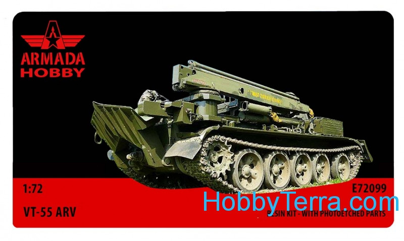 VT-55 Soviet armored recovery vehicle (resin kit & PE set)