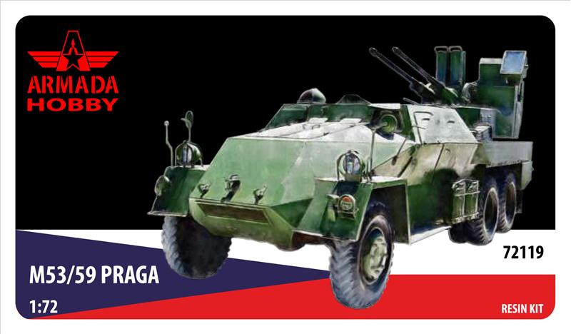 M53/59 JESTERKA Czechoslovakian SPAAG on Praga (resin kit & PE set)