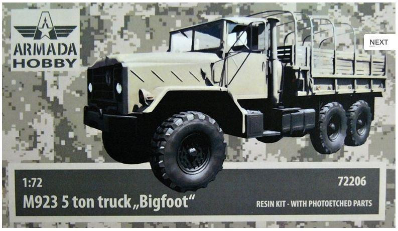 "M923 ""Big Foot"" U.S. 5ton truck (resin kit & PE set)"
