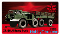 ZIL-135 8 wheeled heavy truck and prime mover (resin kit & PE set)