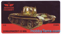Schulepanzer T-55 NVA (resin kit & PE set)