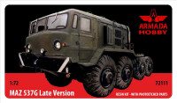 MAZ-537G Soviet 8 wheeled tractor, late version (resin kit & PE set)