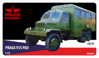 PRAGA V3S PAD Czechoslovakian workshop truck (resin kit & PE set)