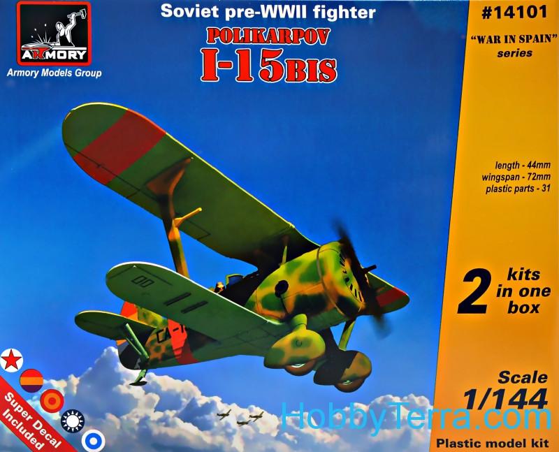 Armory 14101 Polikarpov I-15bis Soviet pre-WWII fighter