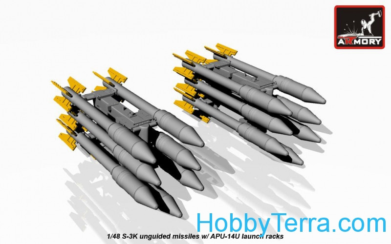S-3K unguided missiles w/ APU-14U launcher rack