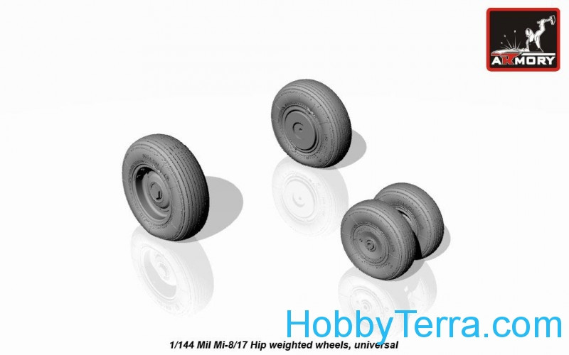Mil Mi-8/17 Hip wheels, weighted