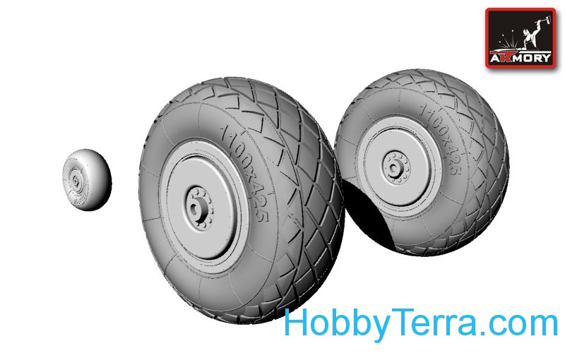 Tupolev Tu-2 wheels, late type tires