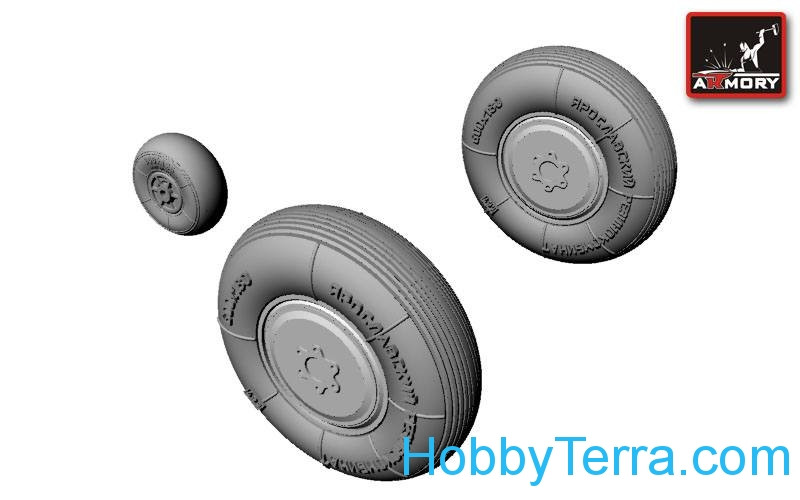 Armory  AW48007 Wheels set 1/48 for Sukhoj Su-7BKL fighter