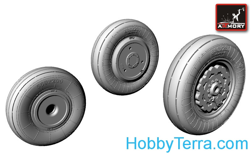 Wheels set 1/72 for Sukhoi Su-17/22